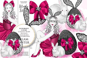 GLAM EASTER clipart