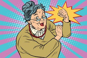 Granny old lady We can do it