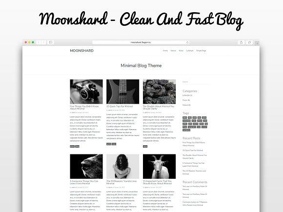 Moonshard - WP Blog Theme