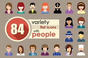 Flat Icons With People