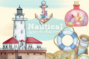 Watercolor Nautical Clipart Images