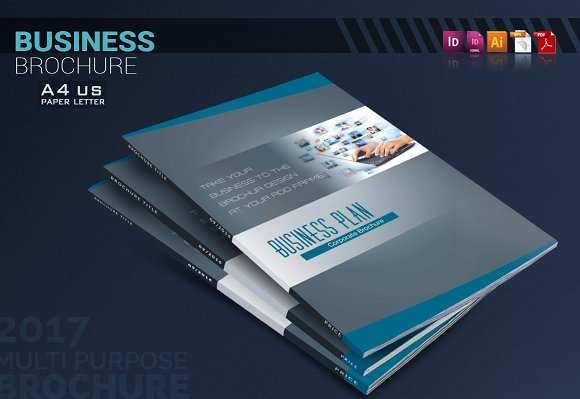 The Business Plan Brochure Templates Creative Market - Business plan design template