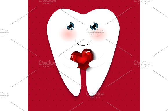 Cute greeting card happy dentist day graphic objects creative market cute greeting card happy dentist day objects m4hsunfo