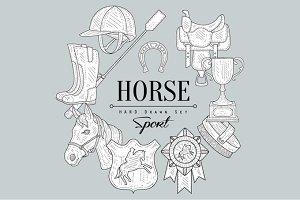 Horse Related Vintage Sketch