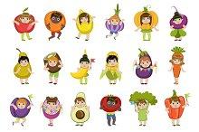 Kids Dressed As Vegetables