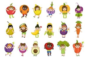 Kids Dressed As Vegetables