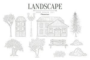 Landscape Vintage Sketch