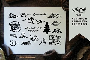 Adventure Handdrawn Elements