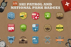 Mountain Ski Patrol Badges