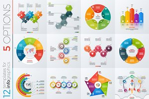 12 infographic templates 5 options