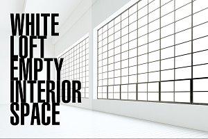 White loft/empty interior space