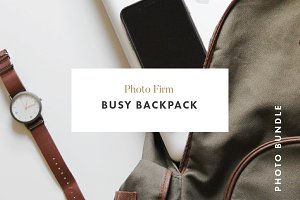 Styled Photos -Busy Backpack
