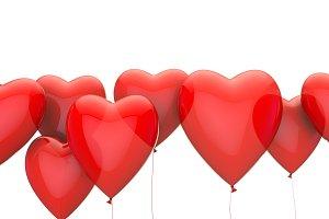 Red heart valentine's love balloon