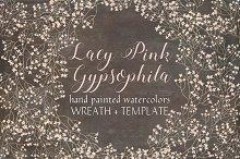Wreath of lacy pink Gypsophila