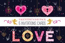 Colorful Valentine`s Day Cards