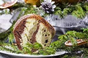 Christmas Zebra cake