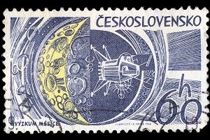 Space Exploration Stamp