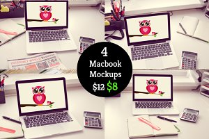 33% off on Macbook Mockup Bundle