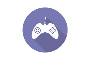 Gamepad icon. Vector