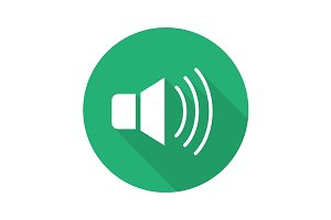 Loudspeaker icon. Vector
