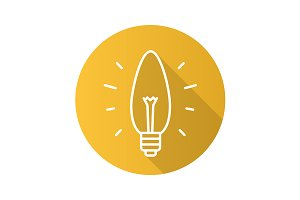 Energy saving lightbulb icon. Vector