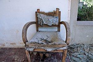 Torn Armchair
