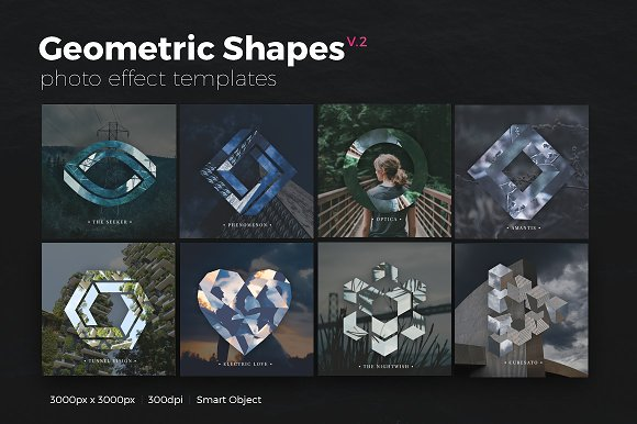 Geometric Shapes Photo Templates V2