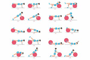 Exercises with a ball for Fitness