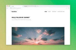 Sunshine - A Journey Tumblr Theme