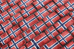 Norway Grunge Style Flag Pattern