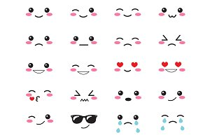 Japanese set emotions emoji