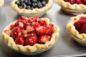 Fruit pie shells ready to bake