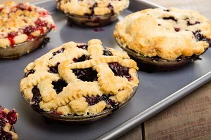 Fresh baked fruit pies