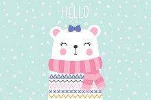 Bear Print-Baby Shower-Cute Bear