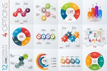 12 infographic templates 4 options