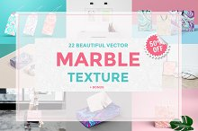 Set Marble Vector Textures.