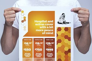 A3 Health Insurance Poster Template