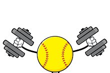 Softball Faceless With Dumbbells