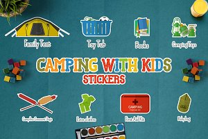 Camping With Kids Stickers