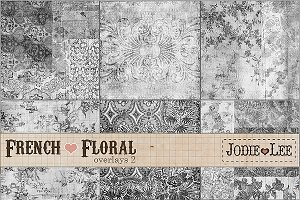 French Floral Texture Overlays #2
