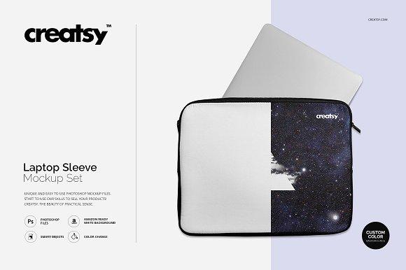 Download Laptop Sleeve Mockup Set