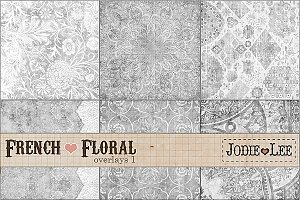 French Floral Textured Overlays #1