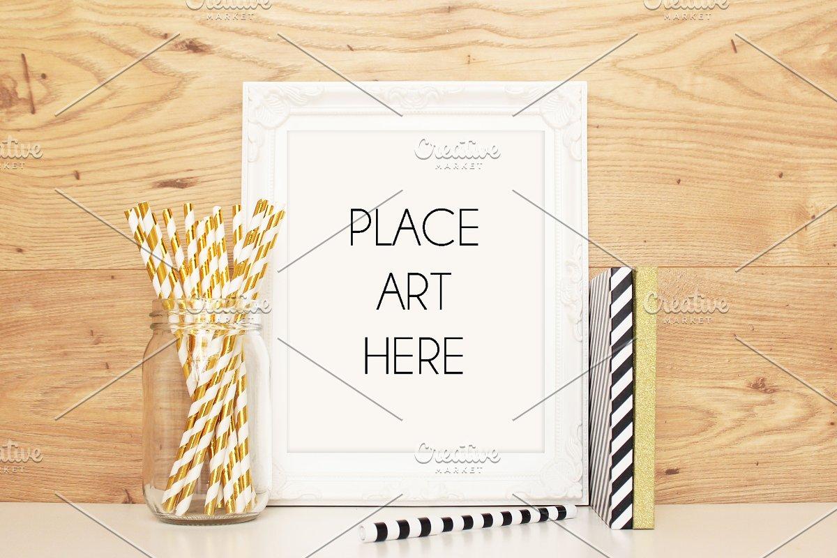 19bb302ef30b White Frame Mock up ~ Print Mockups ~ Creative Market