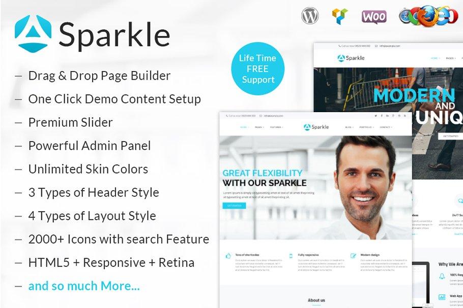 Sparkle - Responsive WordPress Theme