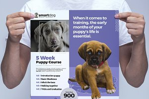 A3 Puppy School Poster Template