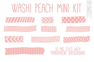 Washi Peach Mini Kit