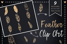 Feather Clip art - glitter clipart