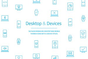 Desktop & Devices Vector Icon Set