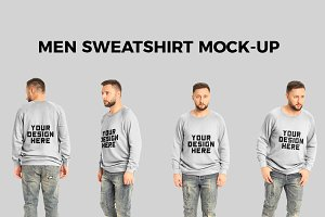 Men Sweatshirt Mock-Up