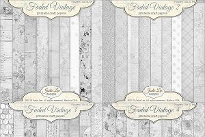 36 Faded Vintage Textured Overlays